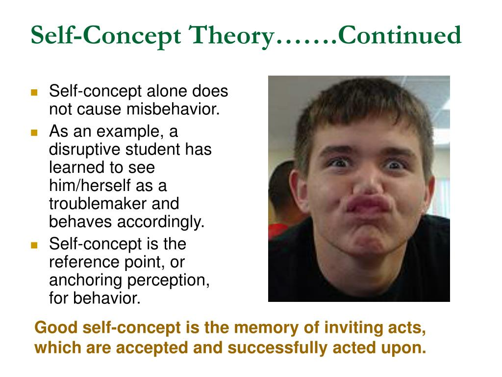 Self-Concept Theory…….Continued