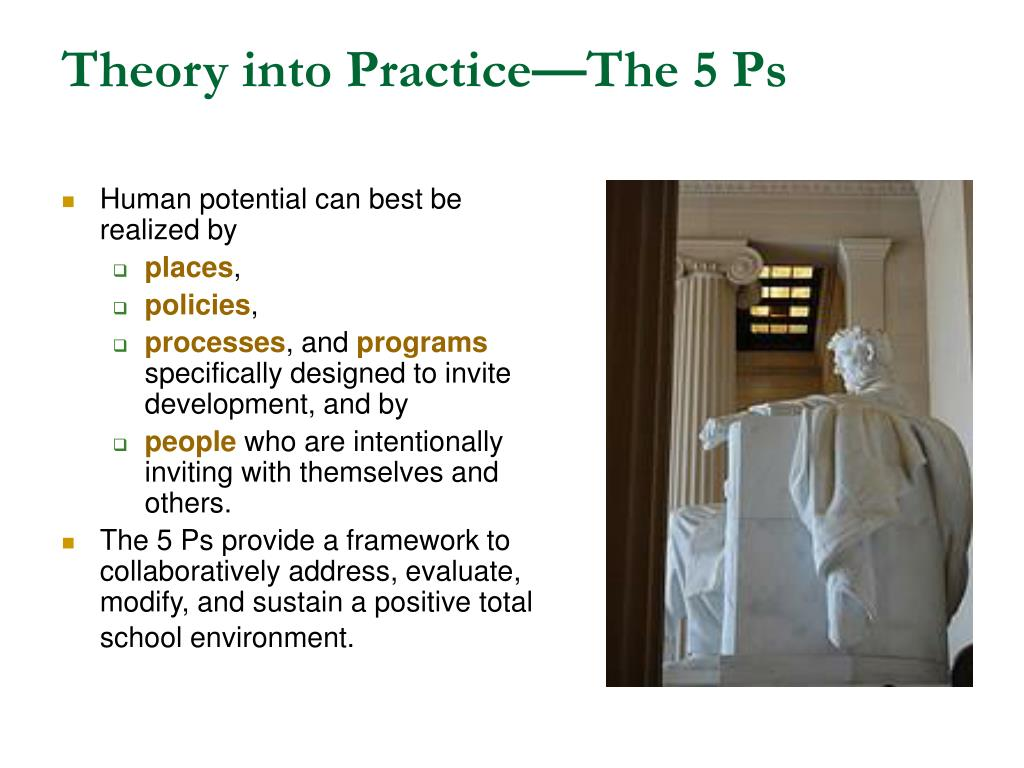 Theory into Practice—The 5 Ps