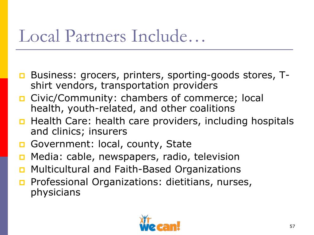 Local Partners Include…
