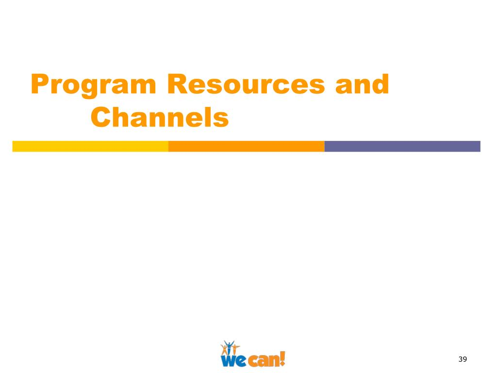 Program Resources and Channels