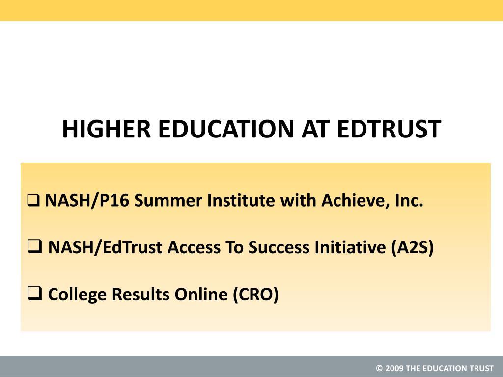 NASH/P16 Summer Institute with Achieve, Inc.