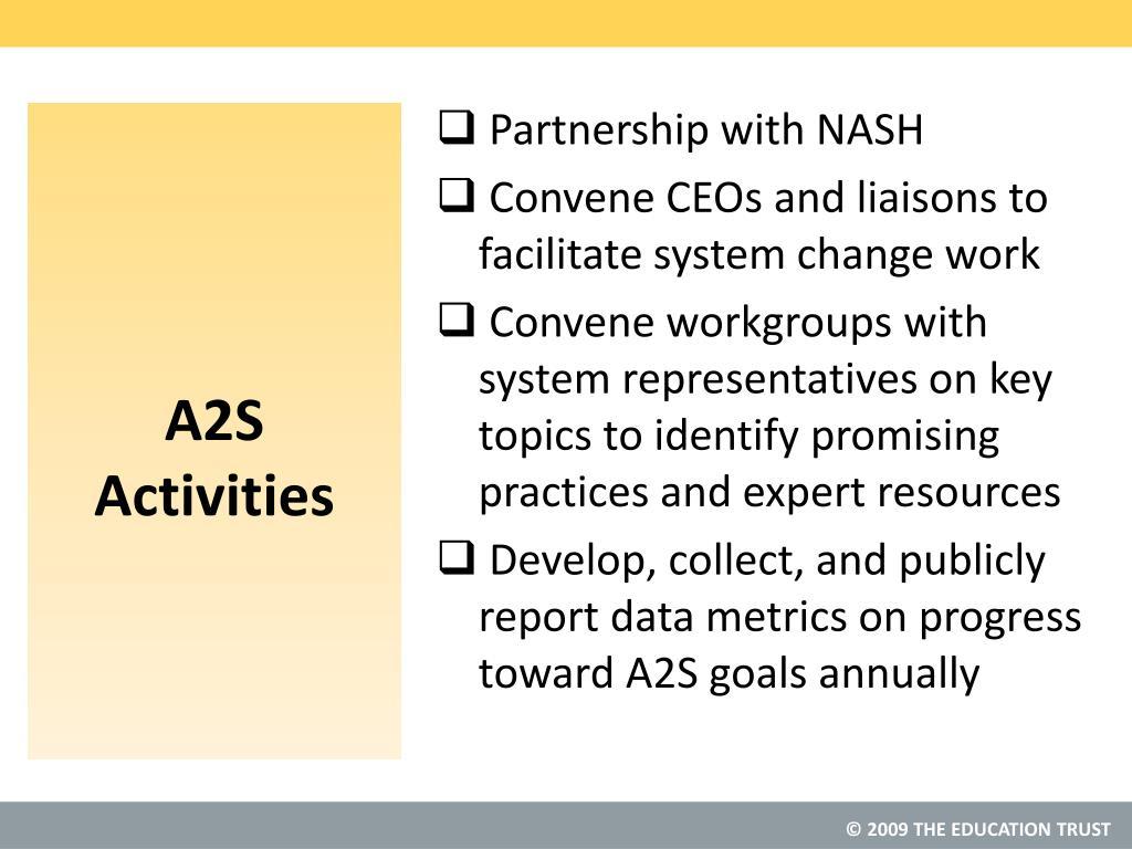 A2S Activities