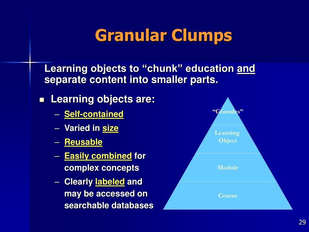 Granular Clumps