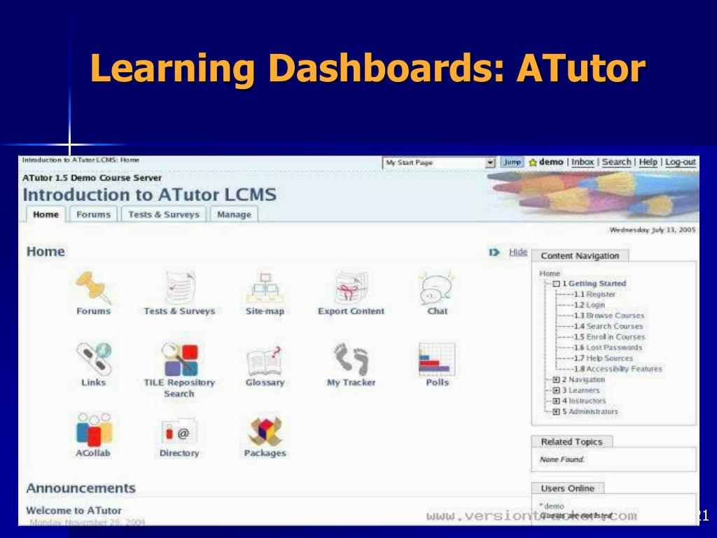 Learning Dashboards: ATutor