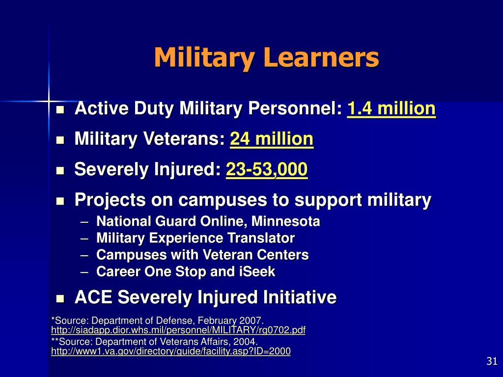Military Learners