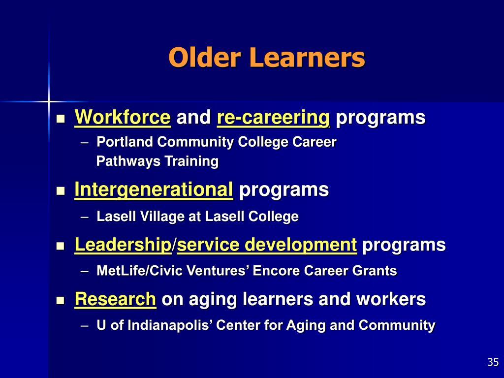 Older Learners