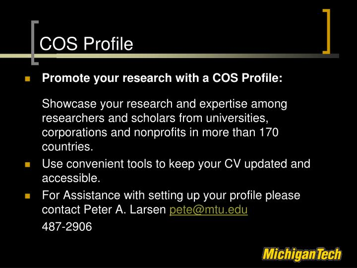 COS Profile