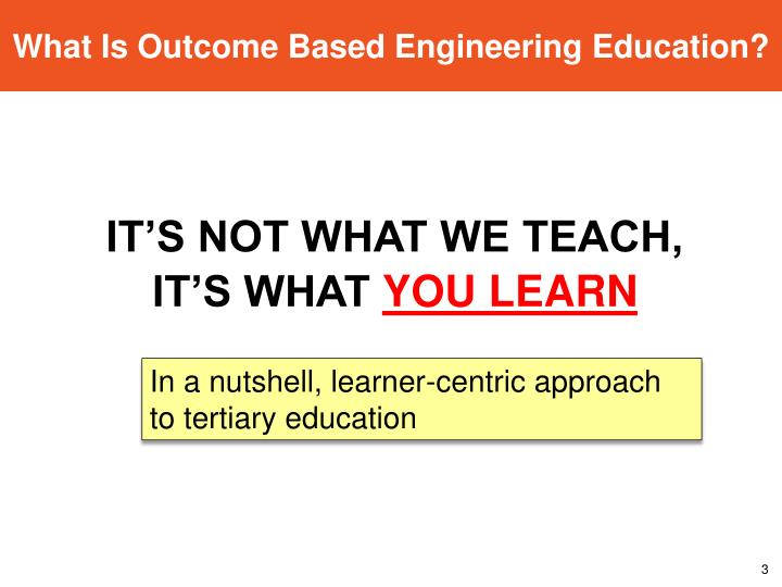 What Is Outcome Based Engineering Education?