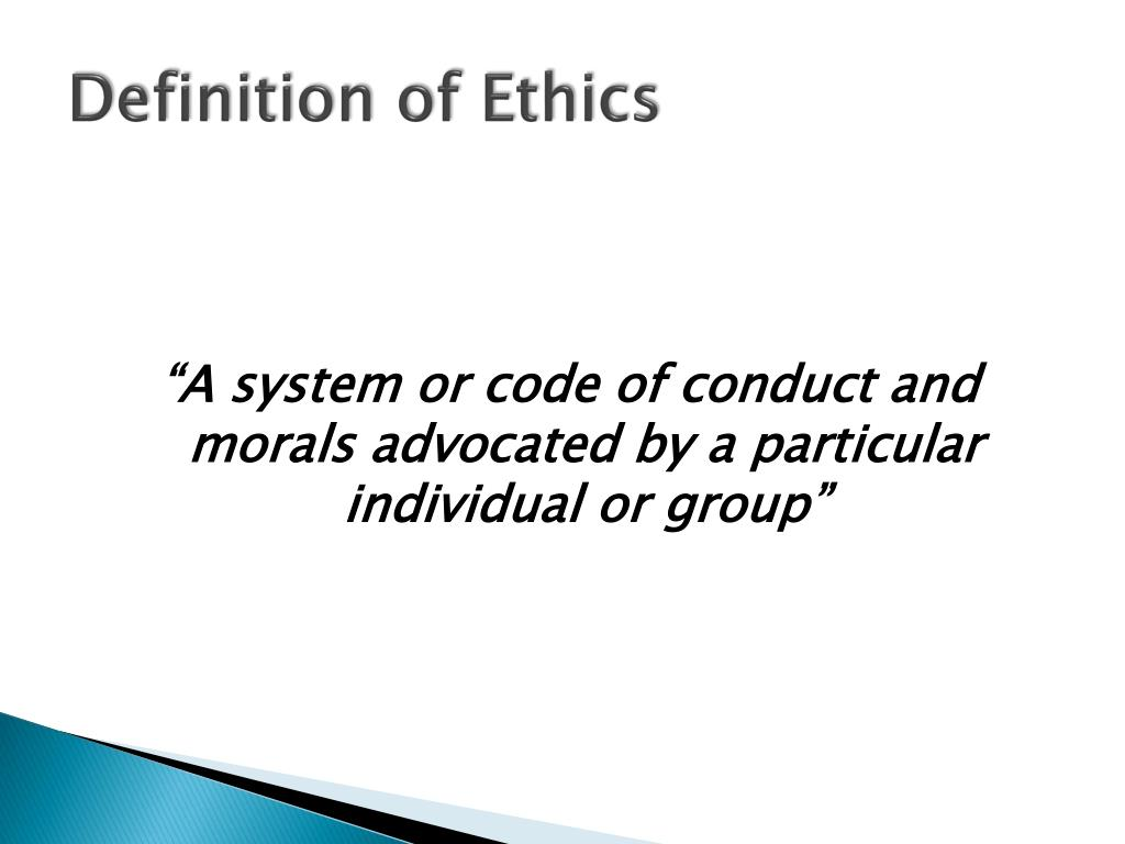 definition of ethics Eth c (ĕth′ĭk) n 1 a a set of principles of right conduct b a theory or a system of moral values: an ethic of service is at war with a craving for gain (gregg.