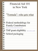 financial aid 101 in new york formula who gets what