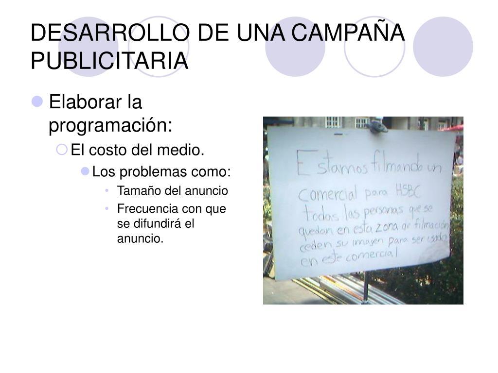 DESARROLLO DE UNA CAMPAÑA PUBLICITARIA