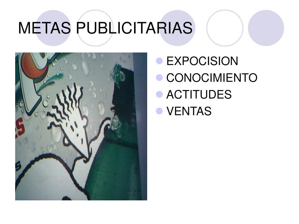 METAS PUBLICITARIAS