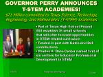 governor perry announces t stem academies