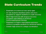 state curriculum trends