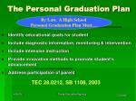 the personal graduation plan