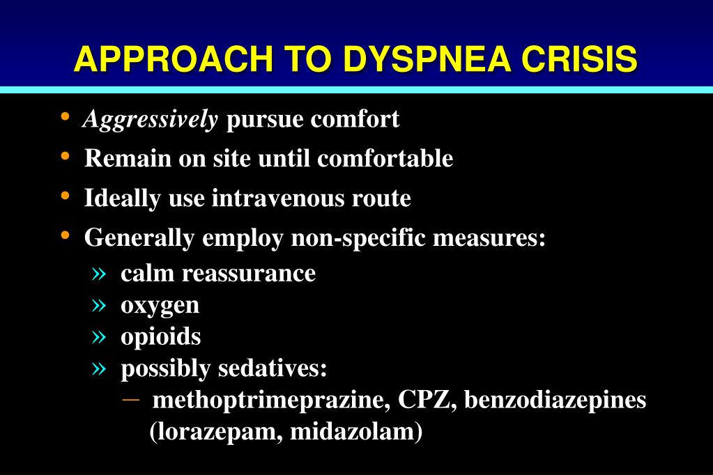 APPROACH TO DYSPNEA CRISIS