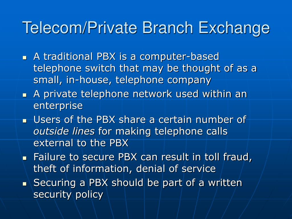 Telecom/Private Branch Exchange