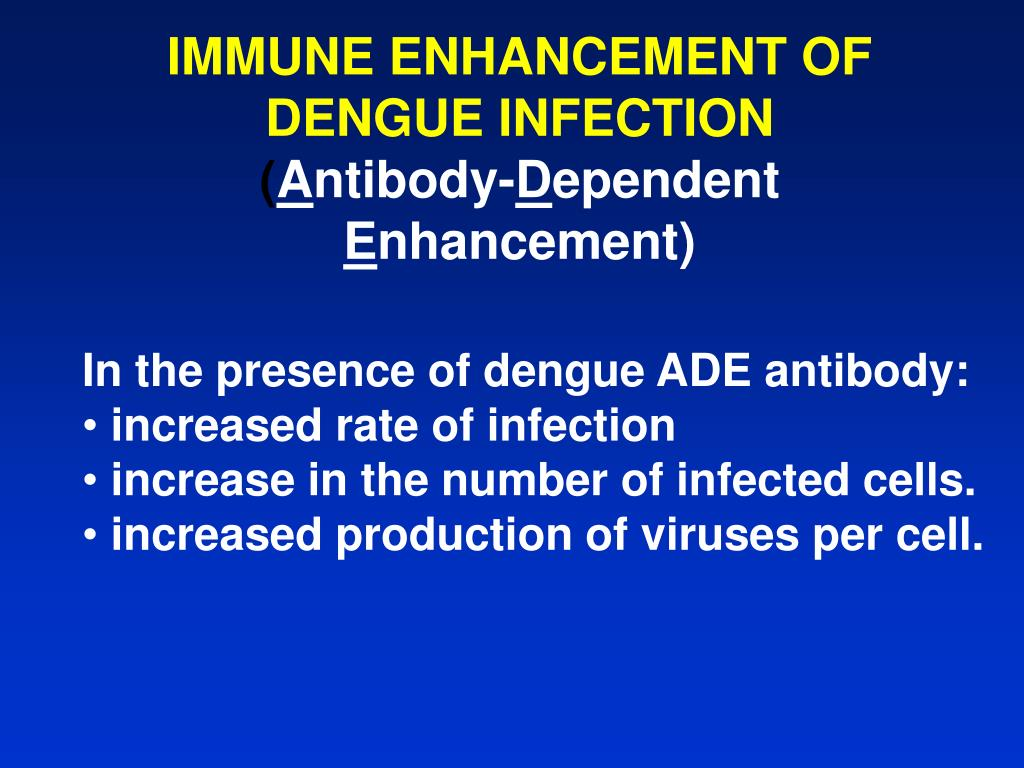 IMMUNE ENHANCEMENT OF DENGUE INFECTION