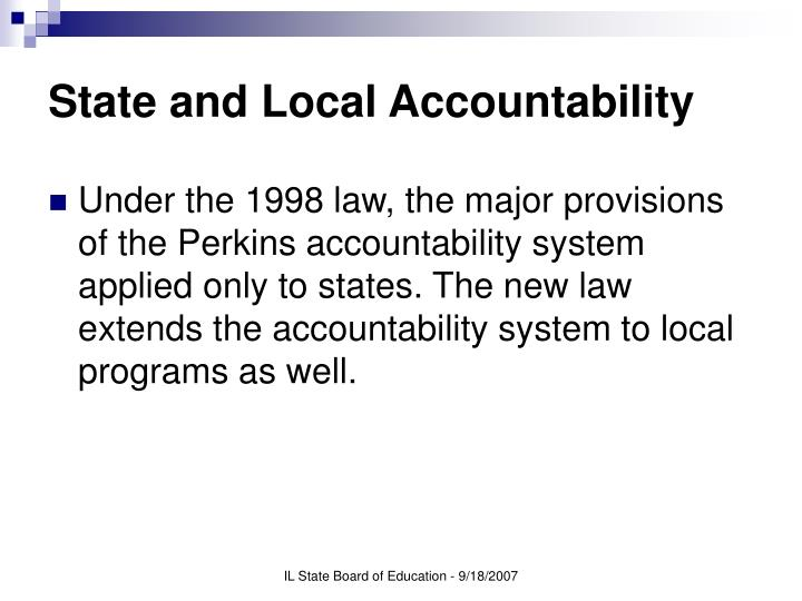 State and local accountability