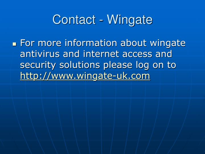 Contact wingate