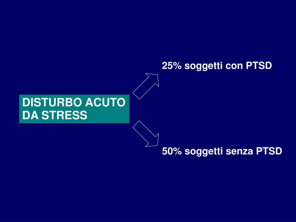 25% soggetti con PTSD