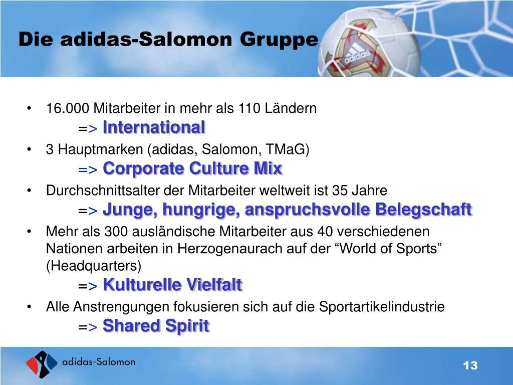 Die adidas-Salomon Gruppe