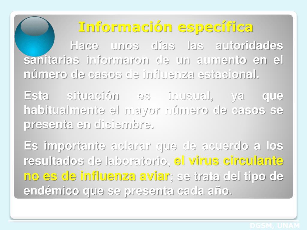 Información específica