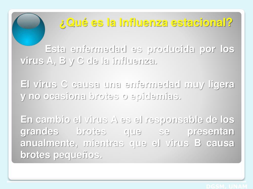 ¿Qué es la Influenza estacional?