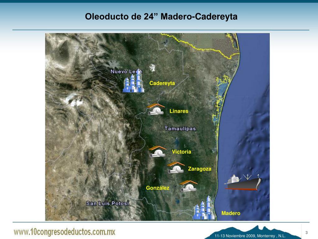 "Oleoducto de 24"" Madero-Cadereyta"