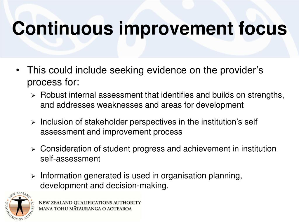 Continuous improvement focus