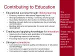 contributing to education
