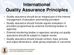 international quality assurance principles