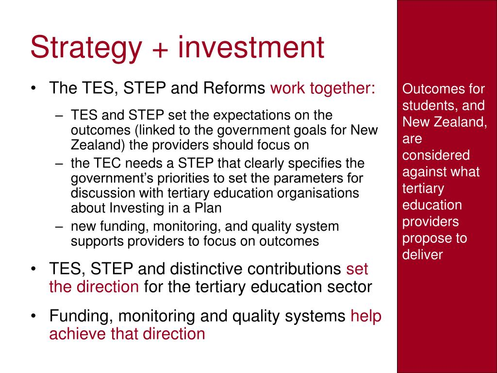 Strategy + investment