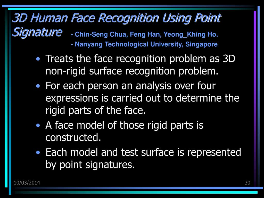 3D Human Face Recognition Using Point Signature