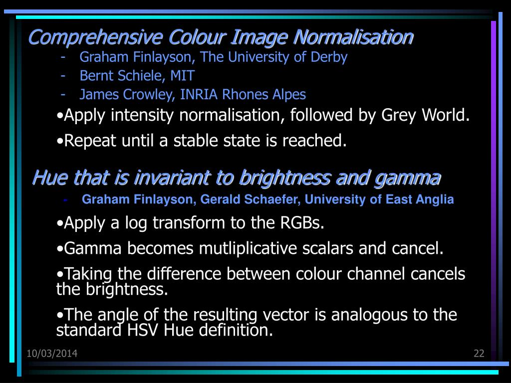 Comprehensive Colour Image Normalisation