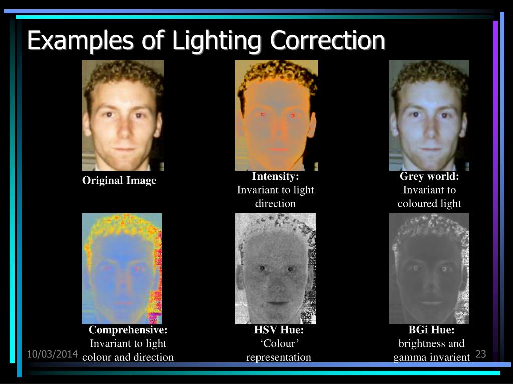 Examples of Lighting Correction