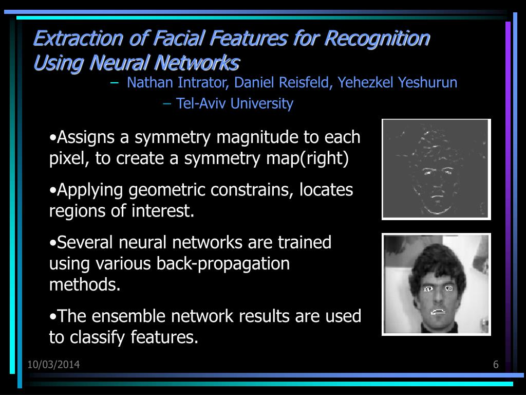 Neural networks facial recognition