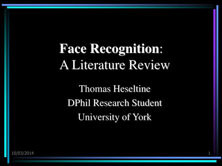 Face recognition a literature review l.jpg