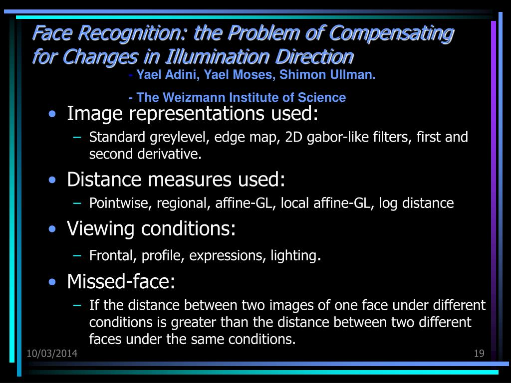 Face Recognition: the Problem of Compensating for Changes in Illumination Direction