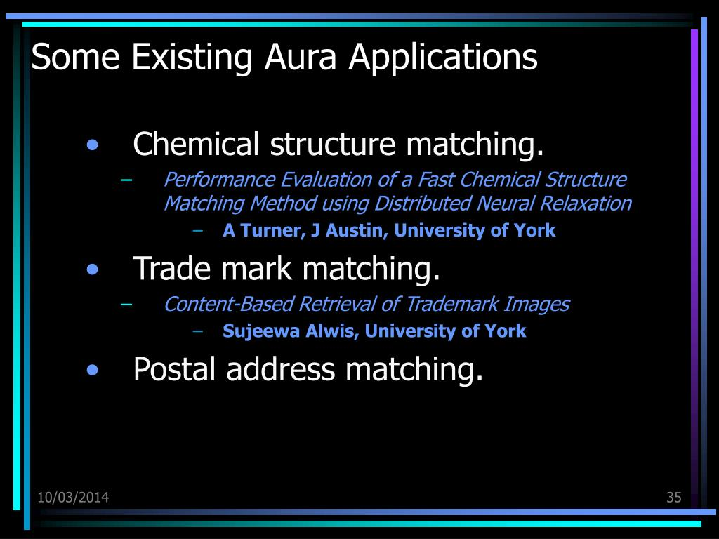 Some Existing Aura Applications