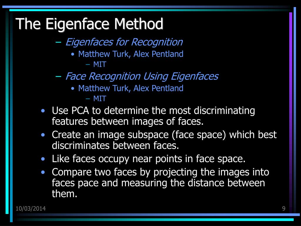 The Eigenface Method