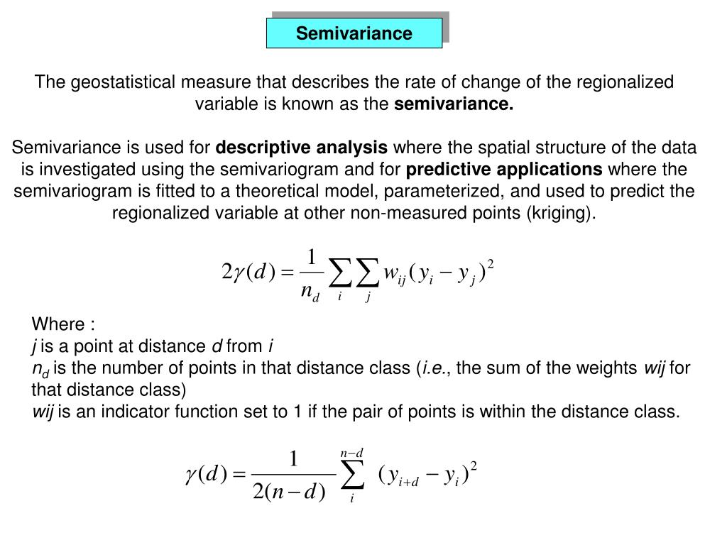 Semivariance