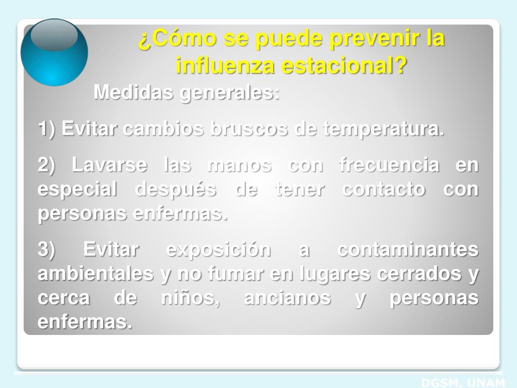 ¿Cómo se puede prevenir la influenza estacional?