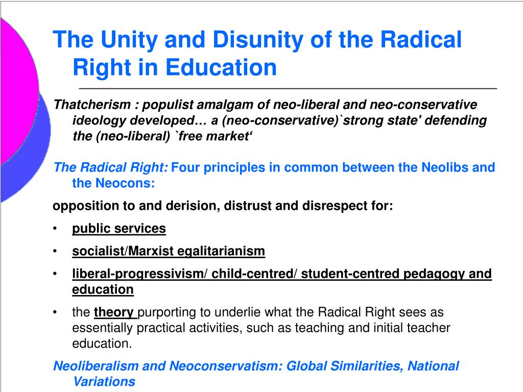 The Unity and Disunity of the Radical Right in Education