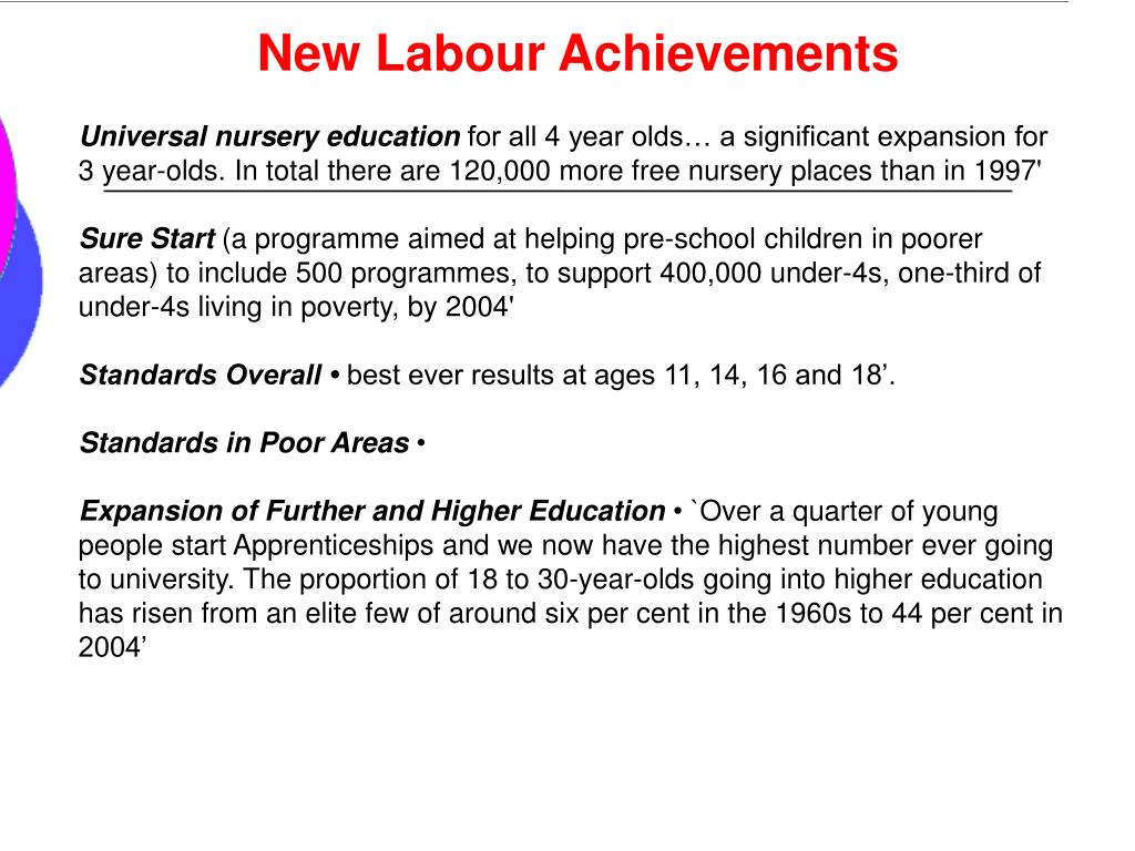 New Labour Achievements