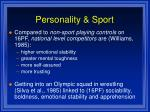 personality sport