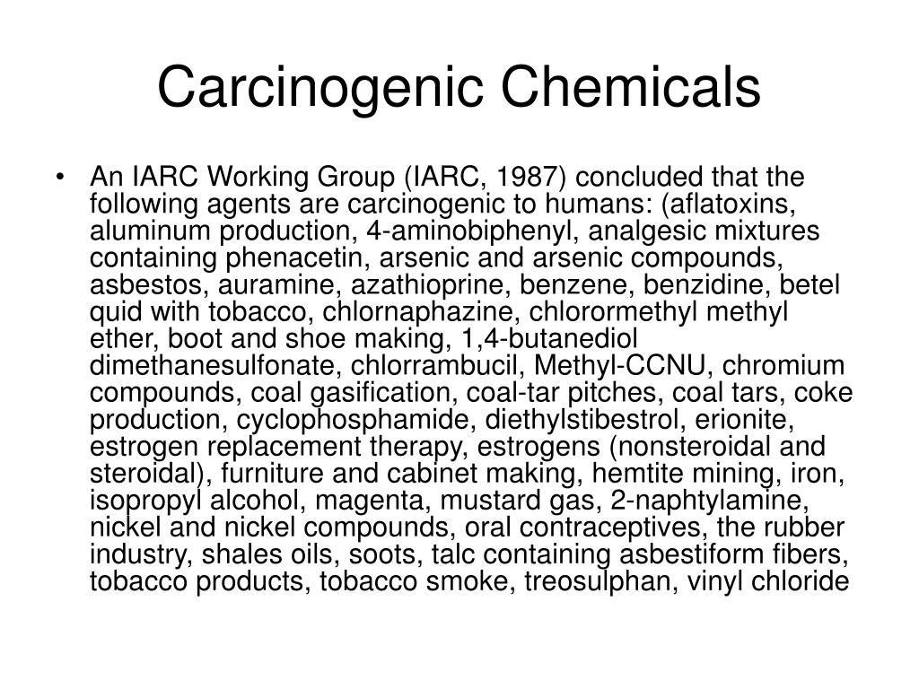 Carcinogenic Chemicals