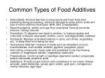 common types of food additives
