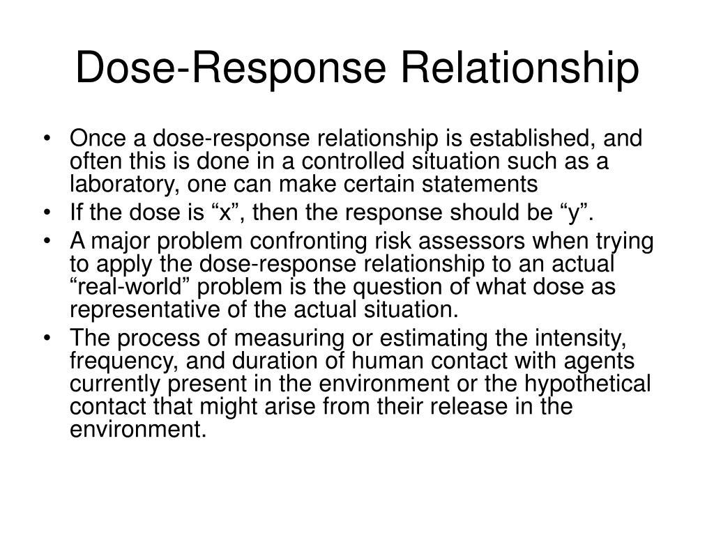 Dose-Response Relationship