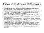 exposure to mixtures of chemicals